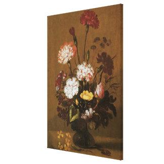 Aún flores florales de la vida en el florero, impresiones en lienzo estiradas