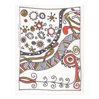 aún más doodles de abril postal