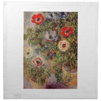 Aún-Vida de Claude Monet con los regalos del desti Servilleta De Papel
