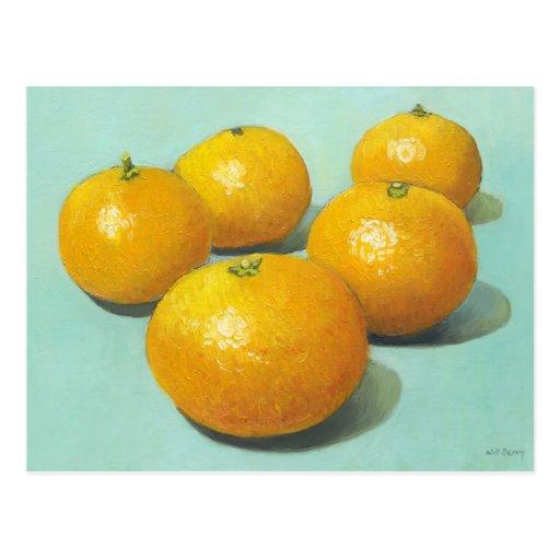 Aún-vida de las clementinas - II Tarjeta Postal