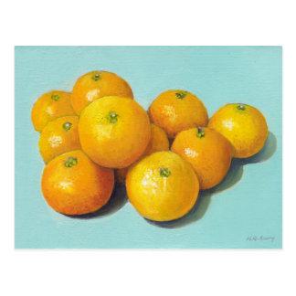 Aún-vida de las clementinas tarjeta postal