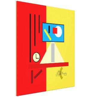 Aún vida moderna con el reloj impresiones de lienzo