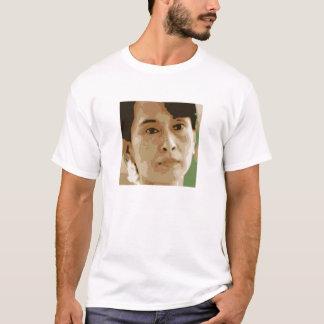 aung san suu kyi burma leader green black T-Shirt