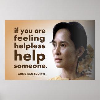 Aung San Suu Kyi Póster