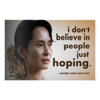 Aung san suu kyi quotes posters