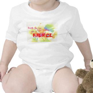Aunque ella sea pero poco, ella es FEROZ Trajes De Bebé