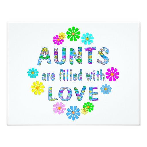 Aunt 4.25x5.5 Paper Invitation Card