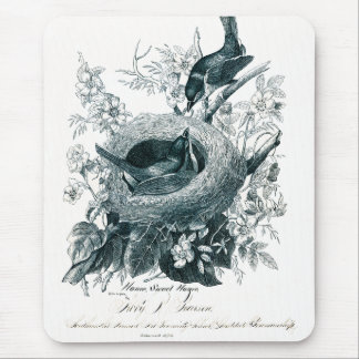 Aunt Abby's Birds Sketch Mouse Pad
