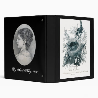Aunt Abby's Brids and Portrait 3 Ring Binder