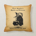 Aunt Agatha's Spells & Potions Throw Pillows