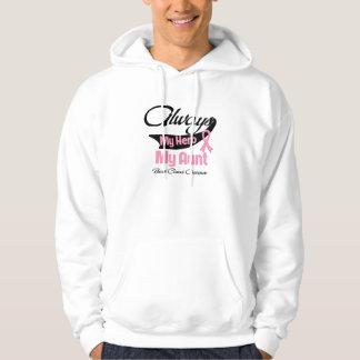 Aunt - Always My Hero - Breast Cancer Hoodie