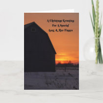 Aunt And Her Fiance Country Morning Christmas Holiday Card