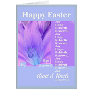 AUNT and UNCLE - Happy Easter with Lily Card