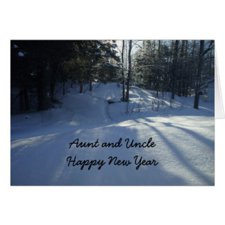 Aunt and Uncle-Happy New Year Card
