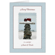 Aunt and Uncle Tractor Christmas Card