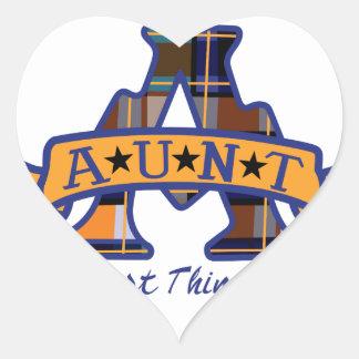 Aunt Applique Heart Sticker