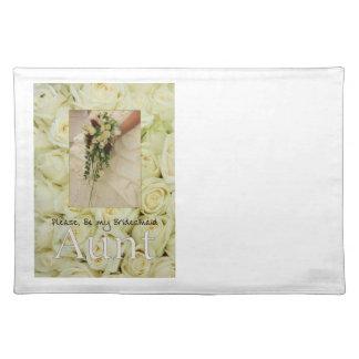 Aunt be Bridesmaid bridal bouquet Placemat