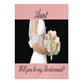 Aunt be Bridesmaid bridal bouquet Magnetic Invitations