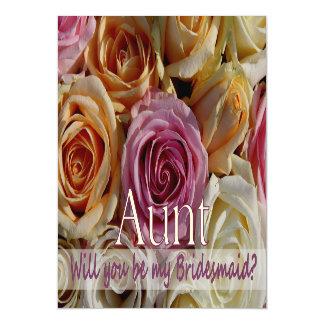 Aunt be Bridesmaid pastel roses Magnetic Invitations