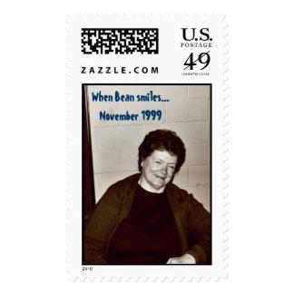 Aunt Bean Postage Stamp