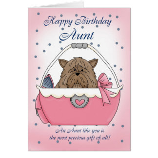 love my aunt greeting cards  zazzle, Birthday card