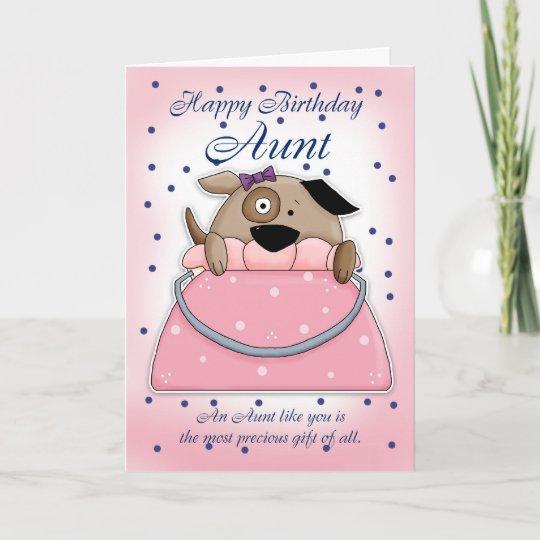 Aunt Birthday Card Cute Purse Pet Zazzle
