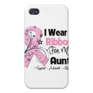 Aunt - Breast Cancer Pink Ribbon iPhone 4 Case