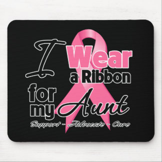 Aunt - Breast Cancer Ribbon Mouse Pad