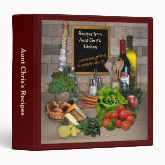 Aunt Chris's Recipes Binder