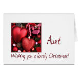 Aunt Christmas Card with ornaments