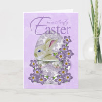 Aunt Easter Card With Baby Rabbit - Just For You A