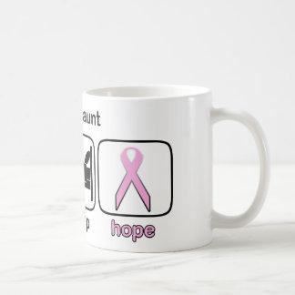 Aunt Eat Sleep Hope - Breast Cancer Coffee Mug