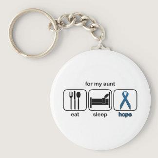 Aunt Eat Sleep Hope - Colon Cancer Keychain