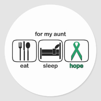 Aunt Eat Sleep Hope - Kidney Cancer Classic Round Sticker