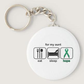 Aunt Eat Sleep Hope - Kidney Cancer Keychain