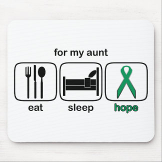 Aunt Eat Sleep Hope - Kidney Cancer Mouse Pad