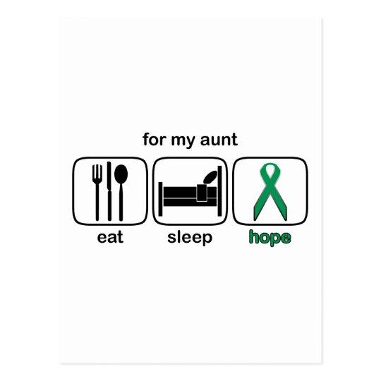 Aunt Eat Sleep Hope - Kidney Cancer Postcard