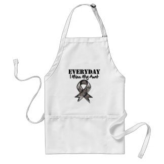 Aunt - Everyday I Miss My Hero Military Adult Apron