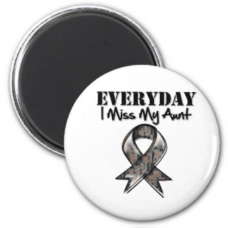 Aunt - Everyday I Miss My Hero Military 2 Inch Round Magnet