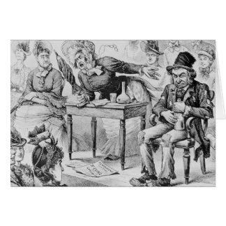 Aunt Evins on the Temperance 'Stump' Greeting Card