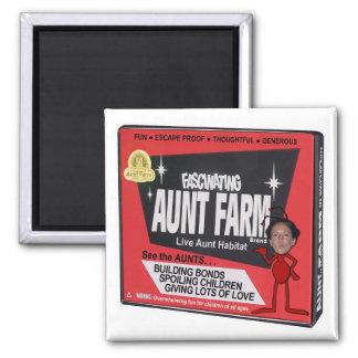 Aunt Farm 2 Inch Square Magnet