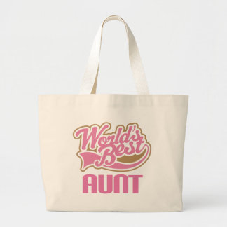 Aunt Gift Cute Worlds Best Slogan Tote Bags
