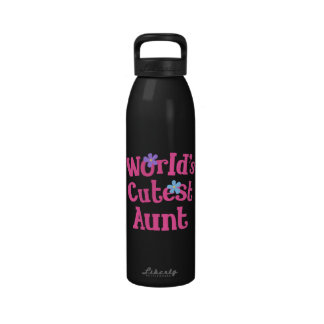 Aunt Gift Idea For Her (Worlds Cutest) Water Bottle