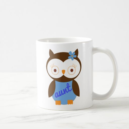Aunt Gift With Owl Mugs