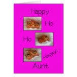 aunt happy ho ho holigays gay x-mas card