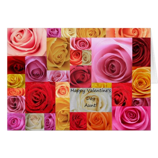 Aunt Happy Valentines Day Roses Zazzlecom