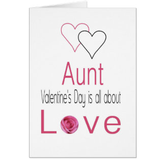 Aunt    Happy Valentine's Day Roses Card