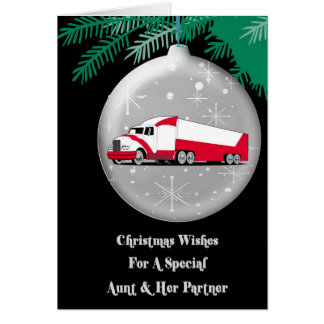 Aunt & Her Parter Christmas Wishes Card