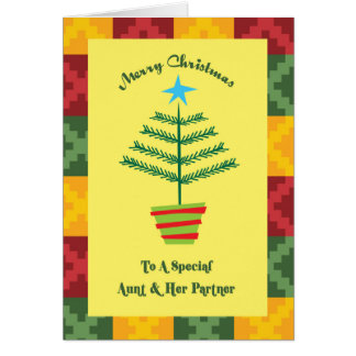 Aunt & Her Partner Primsy Christmas Card