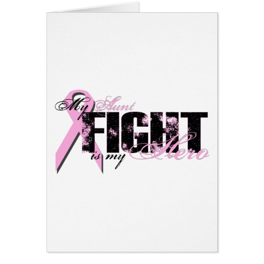 Aunt Hero - Fight Breast Cancer Card